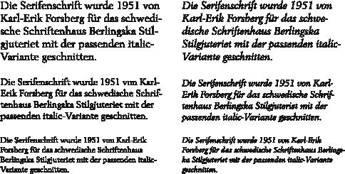 Berling-Textabschnitte