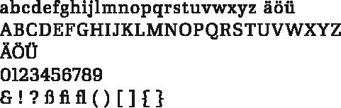 Ibis-Alphabet