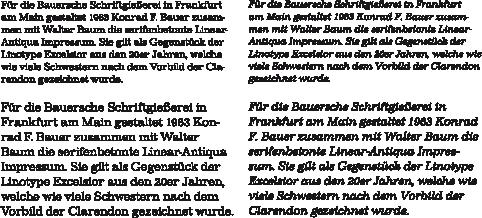Impressum-Textabschnitte