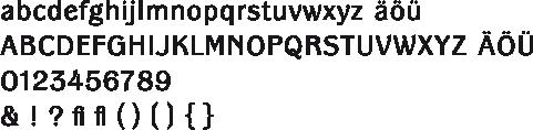 Panche-Alphabet