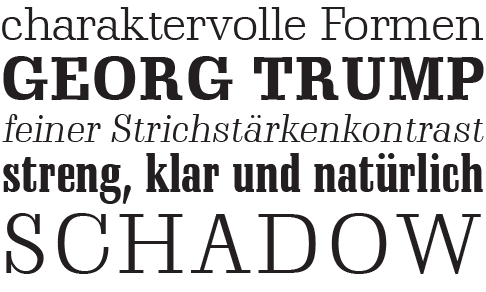 Schadow-Uebersicht