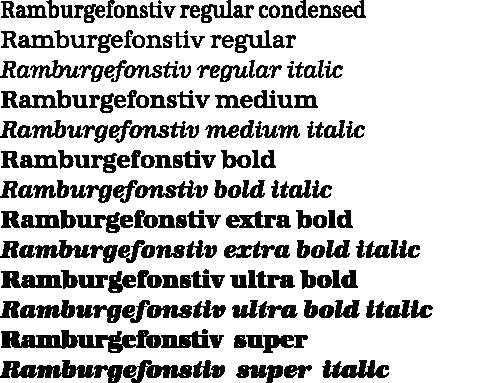 URWAntiqua-Schnitte