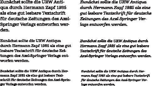 URWAntiqua-Textabschnitt